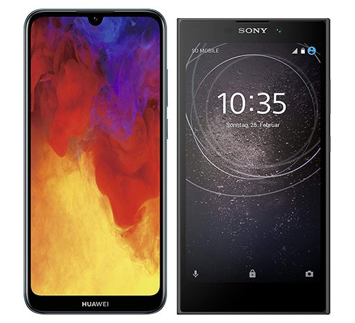 Smartphonevergleich: Huawei y6 2019 oder Sony xperia l2