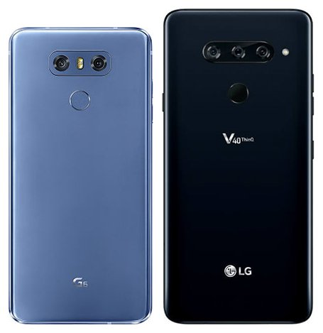Compare smartphones: LG G6 vs LG V40 Thinq | CameraCreativ com