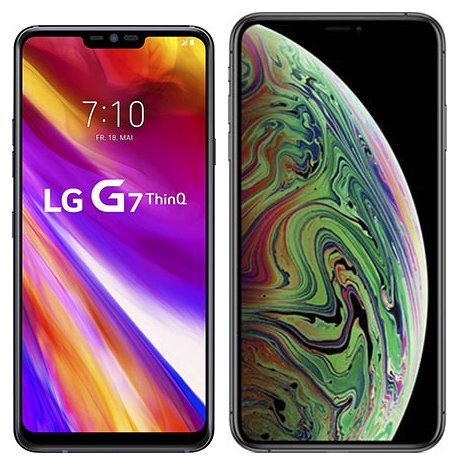 Smartphonevergleich: Lg g7 thinq oder Iphone xs max