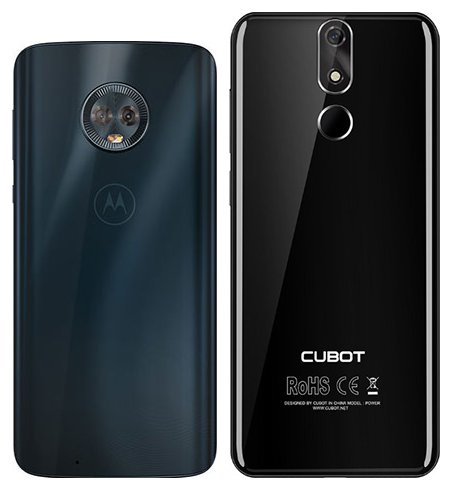 Moto G6 vs Cubot Power. View of main cameras