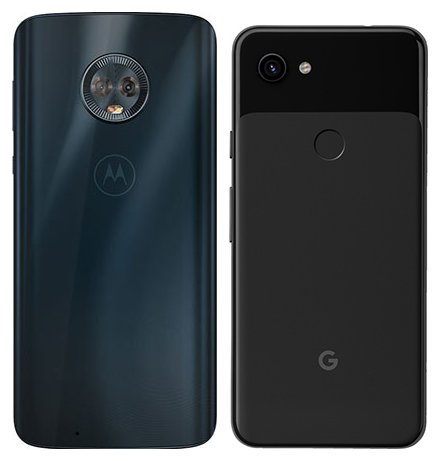 Moto G6 vs Pixel 3A. View of main cameras