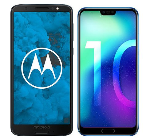 Smartphone Comparison: Motorola moto g6 vs Honor 10