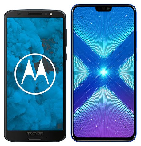 Smartphone Comparison: Motorola moto g6 vs Honor 8x