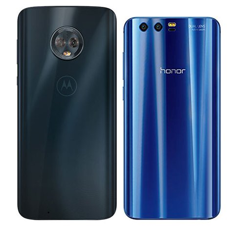 Moto G6 vs Honor 9. View of main cameras