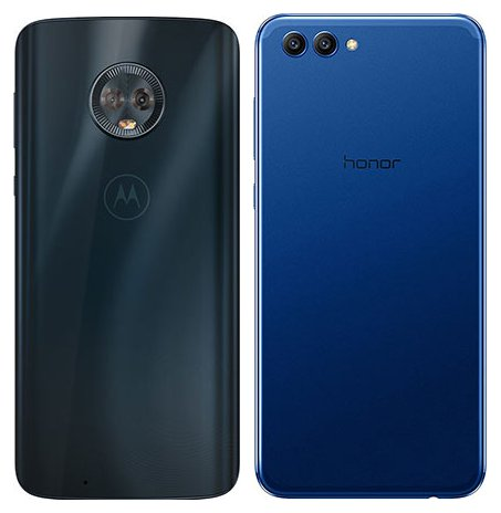 Moto G6 vs Honor View 10. View of main cameras