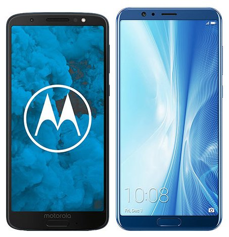 Moto G6 vs Honor View 10. Size comparison
