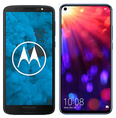 Smartphone Comparison: Motorola moto g6 vs Honor view 20