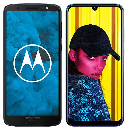 Moto G6 vs P Smart (2019). Size comparison