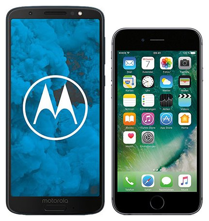Smartphone Comparison: Motorola moto g6 vs Iphone 6s
