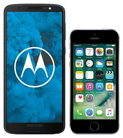 Smartphone Comparison: Motorola moto g6 vs Iphone se