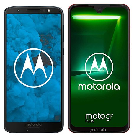 Moto G6 vs Moto G7 Plus. Size comparison