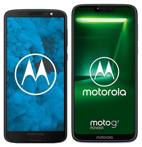 Moto G6 vs Moto G7 Power. Size comparison