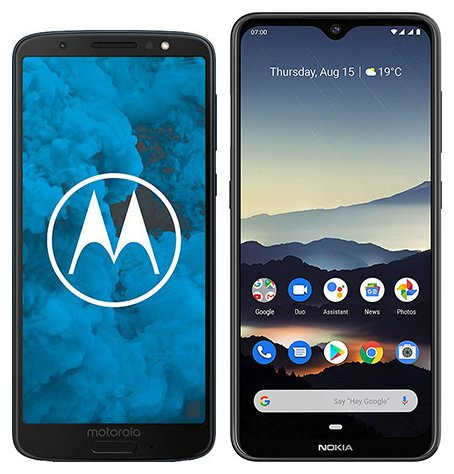 Moto G6 vs Nokia 7.2. Size comparison