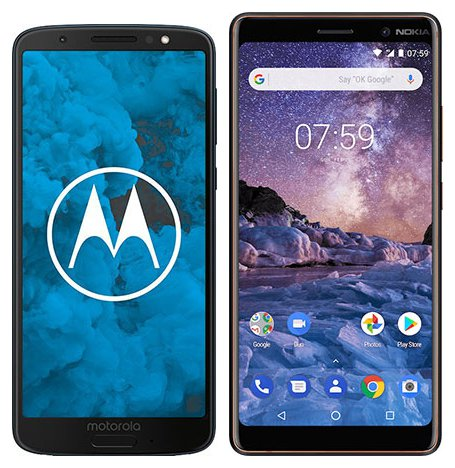 Smartphone Comparison: Motorola moto g6 vs Nokia 7 plus