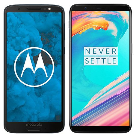 Smartphone Comparison: Motorola moto g6 vs One plus 5t