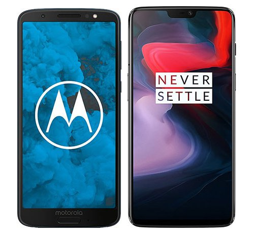 Smartphone Comparison: Motorola moto g6 vs One plus 6