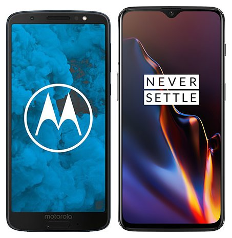 Smartphone Comparison: Motorola moto g6 vs One plus 6t