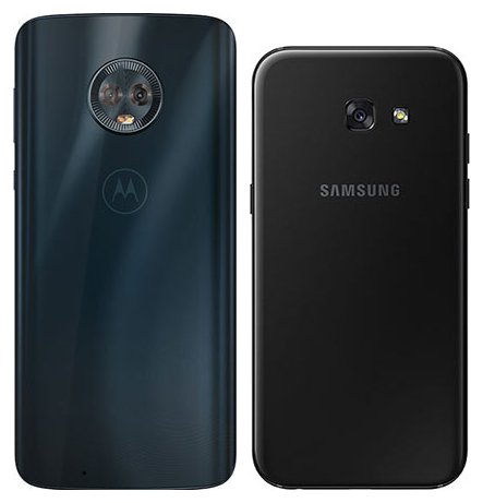 Moto G6 vs Galaxy A5 (2017). View of main cameras