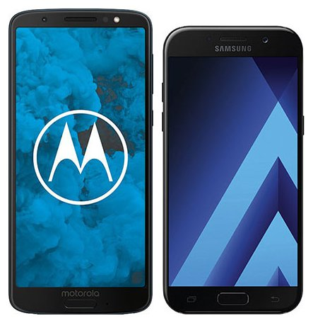 Moto G6 vs Galaxy A5 (2017). Size comparison