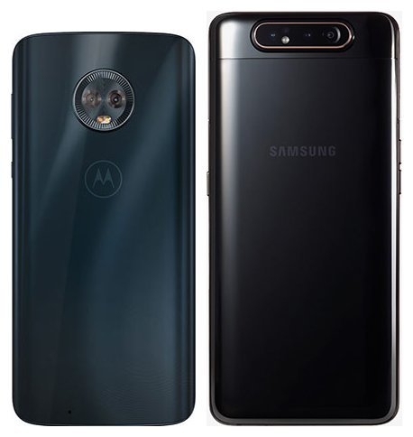 Moto G6 vs Galaxy A80. View of main cameras