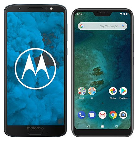 Moto G6 vs Mi A2 Lite. Size comparison