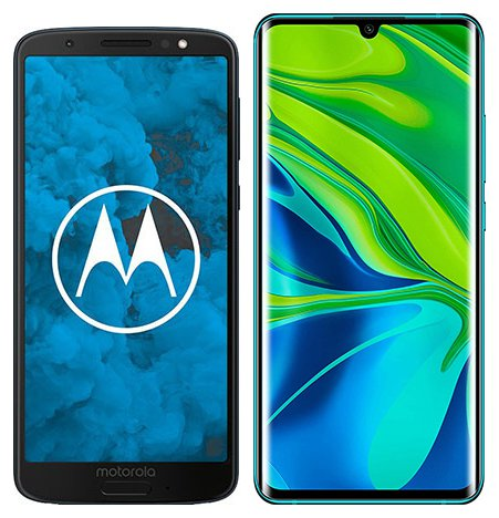 Smartphone Comparison: Motorola moto g6 vs Xiaomi note 10