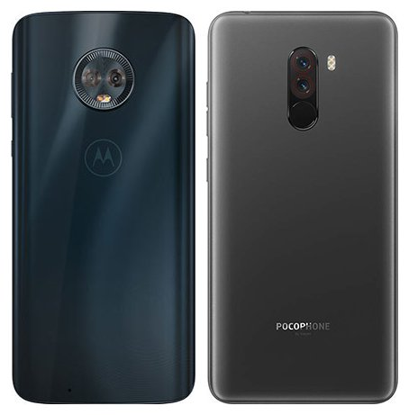 Moto G6 vs Pocophone F1. View of main cameras