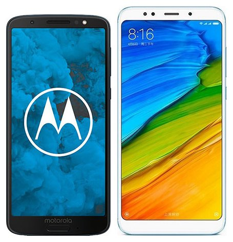 Smartphone Comparison: Motorola moto g6 vs Xiaomi redmi 5 plus
