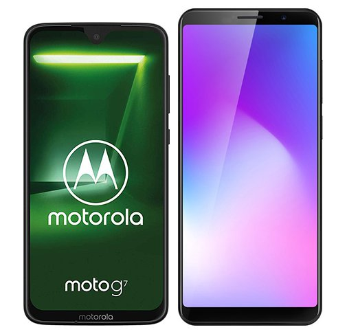 Smartphone Comparison: Motorola moto g7 vs Cubot power
