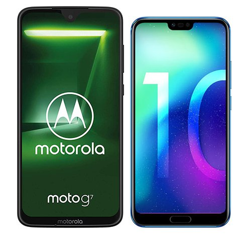 Smartphone Comparison: Motorola moto g7 vs Honor 10