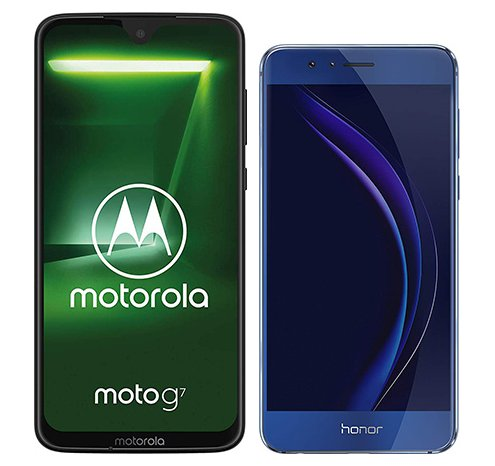 Smartphone Comparison: Motorola moto g7 vs Honor 8