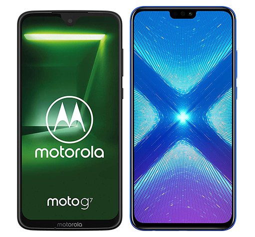 Smartphone Comparison: Motorola moto g7 vs Honor 8x