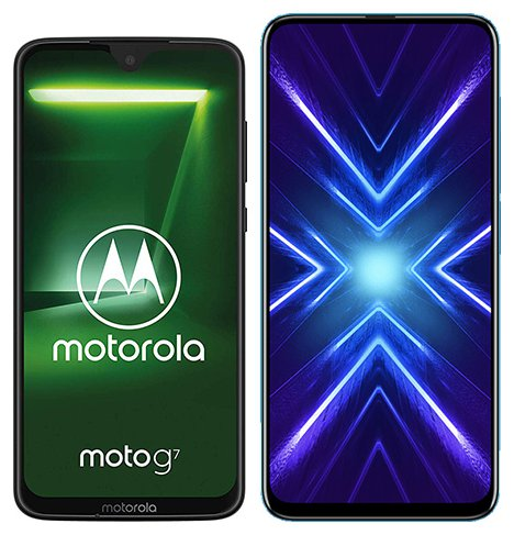 Smartphone Comparison: Motorola moto g7 vs Honor 9x