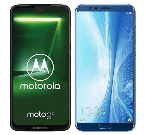 Smartphone Comparison: Motorola moto g7 vs Honor view 10