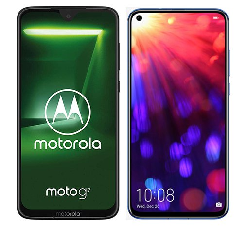 Smartphone Comparison: Motorola moto g7 vs Honor view 20