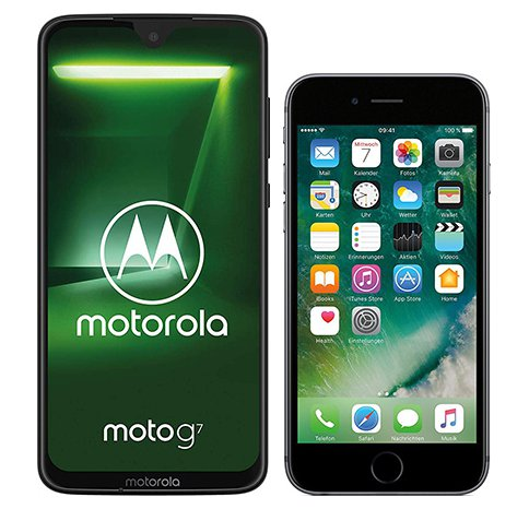 Smartphone Comparison: Motorola moto g7 vs Iphone 6s