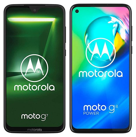 Smartphone Comparison: Motorola moto g7 vs Motorola moto g8 power