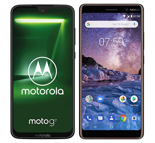 Smartphone Comparison: Motorola moto g7 vs Nokia 7 plus