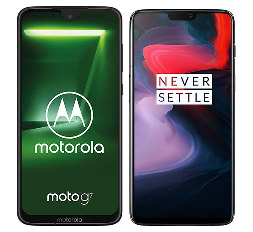 Smartphone Comparison: Motorola moto g7 vs One plus 6