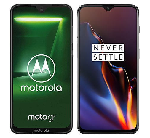 Smartphone Comparison: Motorola moto g7 vs One plus 6t