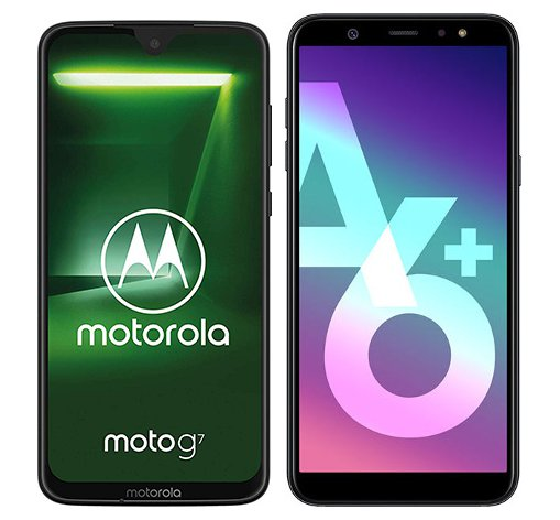 Smartphone Comparison: Motorola moto g7 vs Samsung galaxy a6 plus