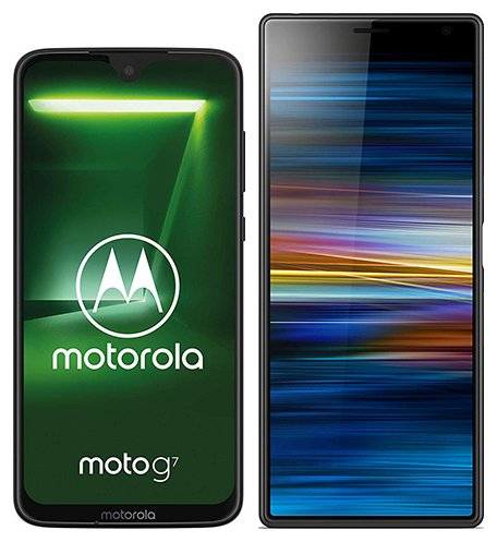Smartphone Comparison: Motorola moto g7 vs Sony xperia 10 plus