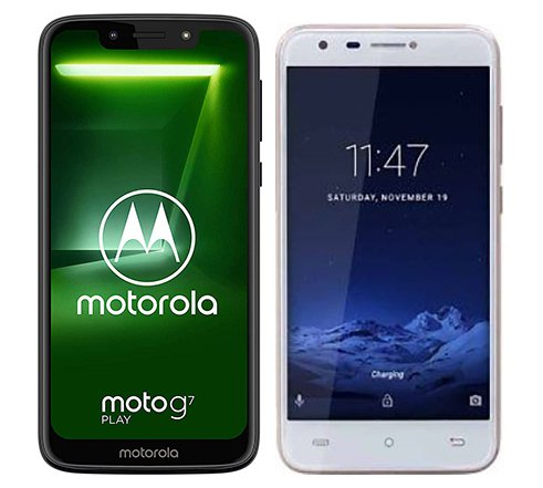 Smartphone Comparison: Motorola moto g7 play vs Cubot hafury mix