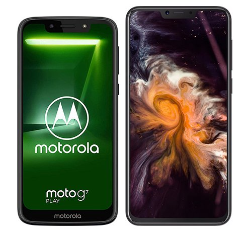 Smartphone Comparison: Motorola moto g7 play vs Cubot p20