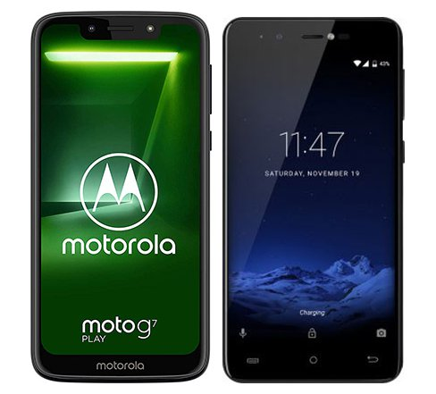 Smartphone Comparison: Motorola moto g7 play vs Cubot r9