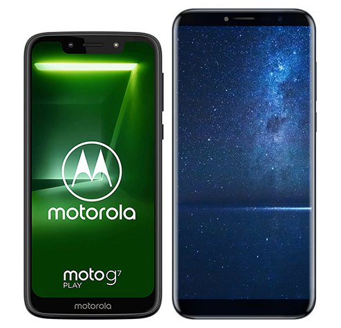 Smartphone Comparison: Motorola moto g7 play vs Cubot x18