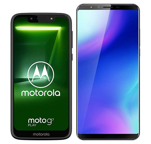Smartphone Comparison: Motorola moto g7 play vs Cubot x18 plus