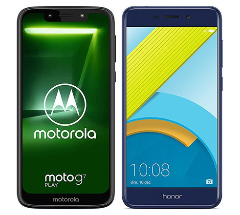 Smartphone Comparison: Motorola moto g7 play vs Honor 6c pro