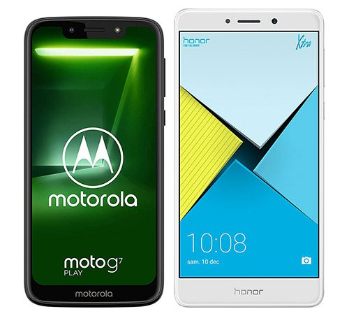 Smartphone Comparison: Motorola moto g7 play vs Honor 6x
