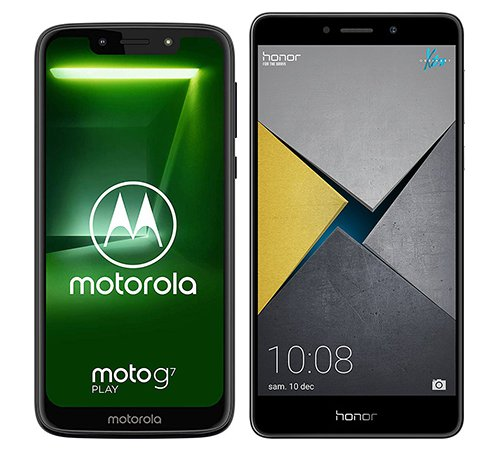 Smartphone Comparison: Motorola moto g7 play vs Honor 6x pro